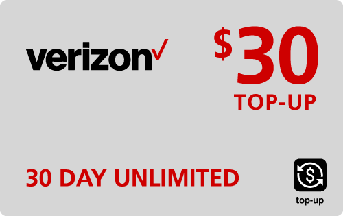 Verizon Wireless Refill $30