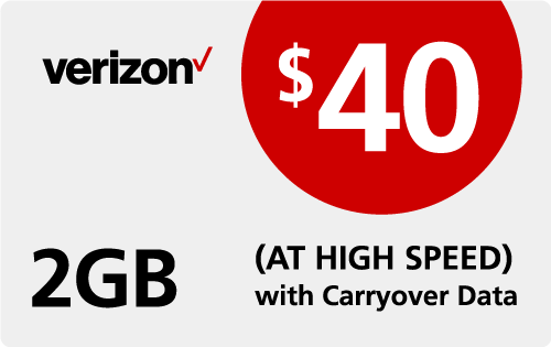 Verizon Wireless Refill $40